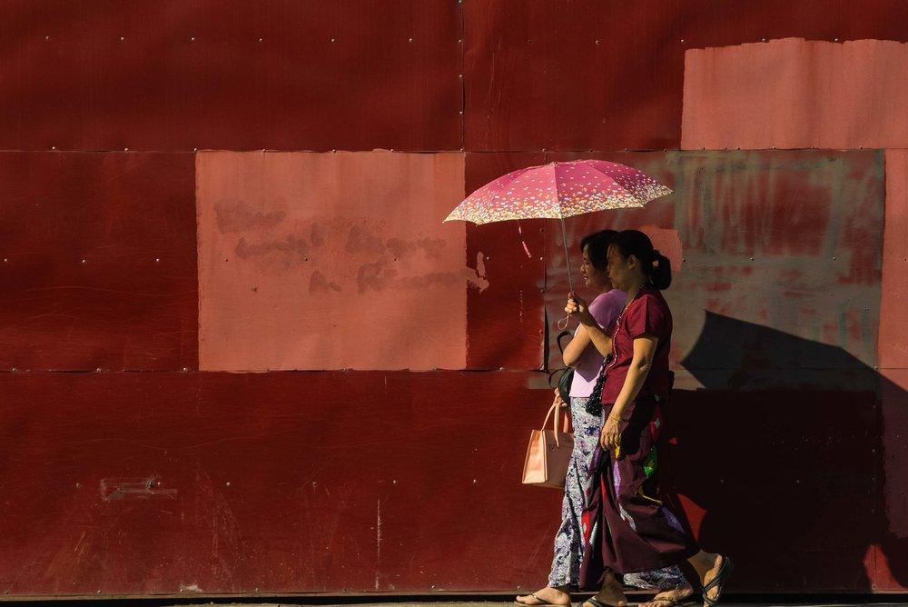 Strolling. Yangon, Myanmar 2015