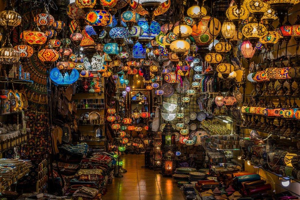 Arabic Lamps. Granada, Spain 2018