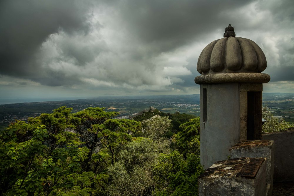 Pena Palace View. Sintra, Portugal 2018