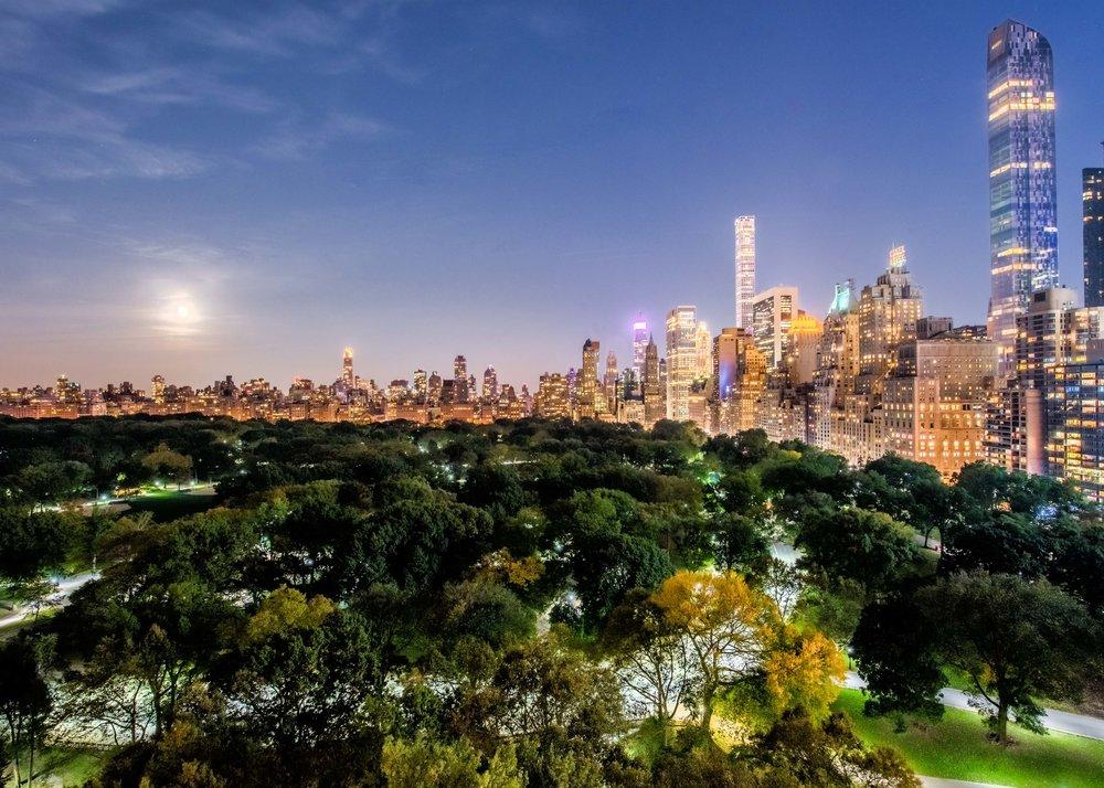 Moon Over Manhattan. New York, NY 2016
