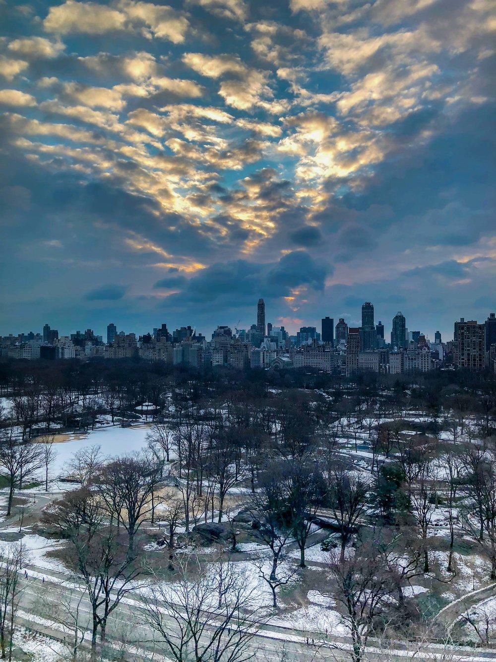 Winter Sunrise. Central Park, NY 2018