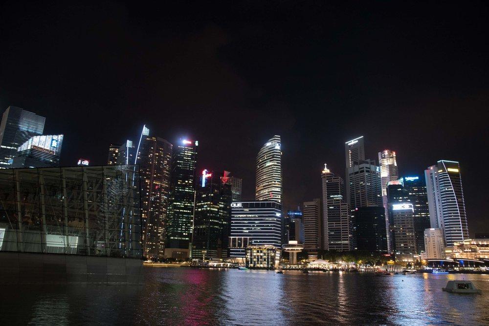 Before Lightning Strike - Marine Basin. Singapore 2015