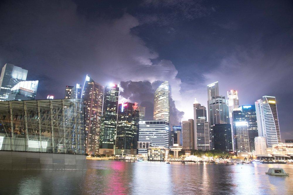 During Lightning Strike - Marine Basin. Singapore 2015