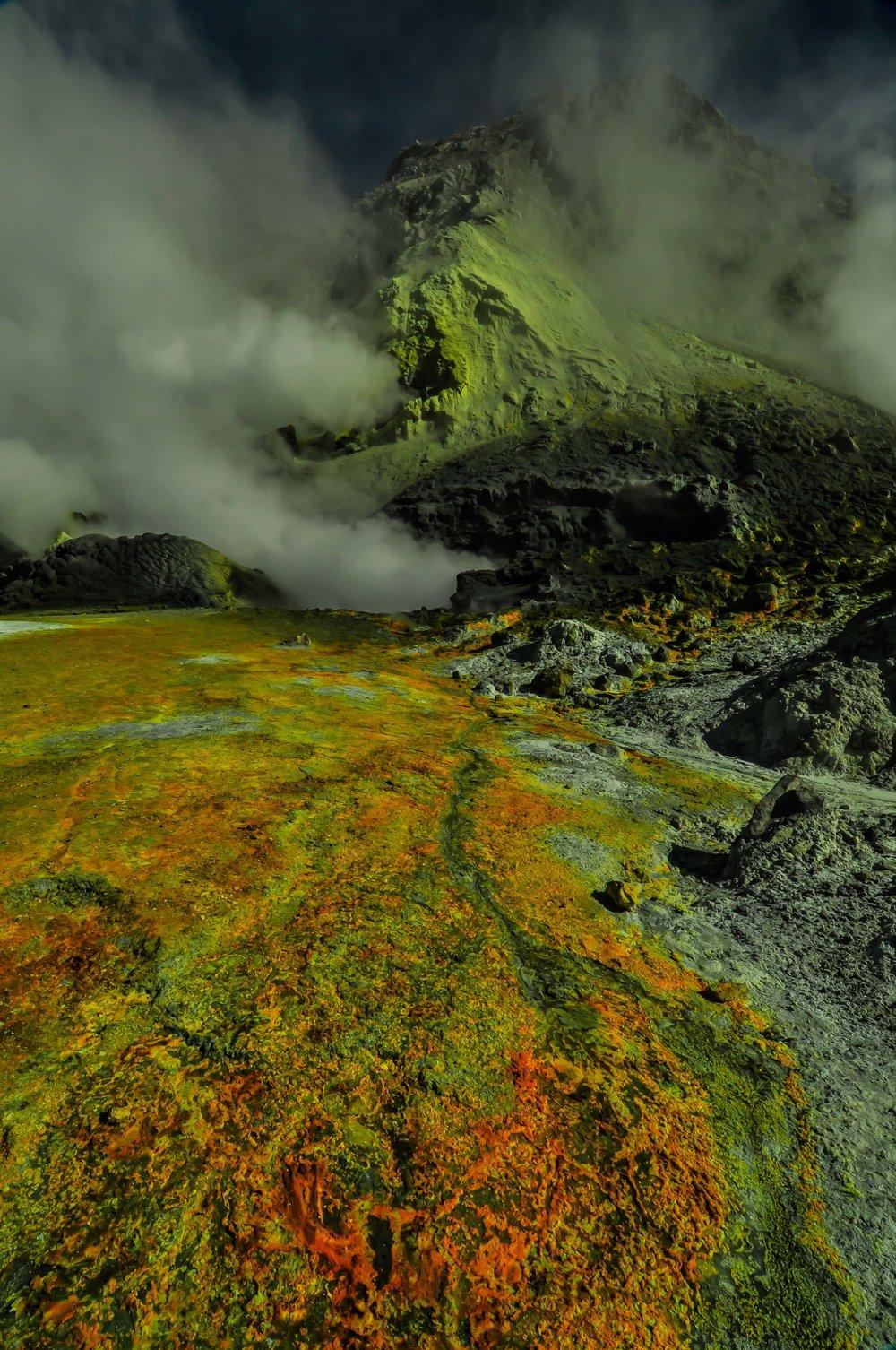 White Island Volcano. Whakaari, New Zealand 2010