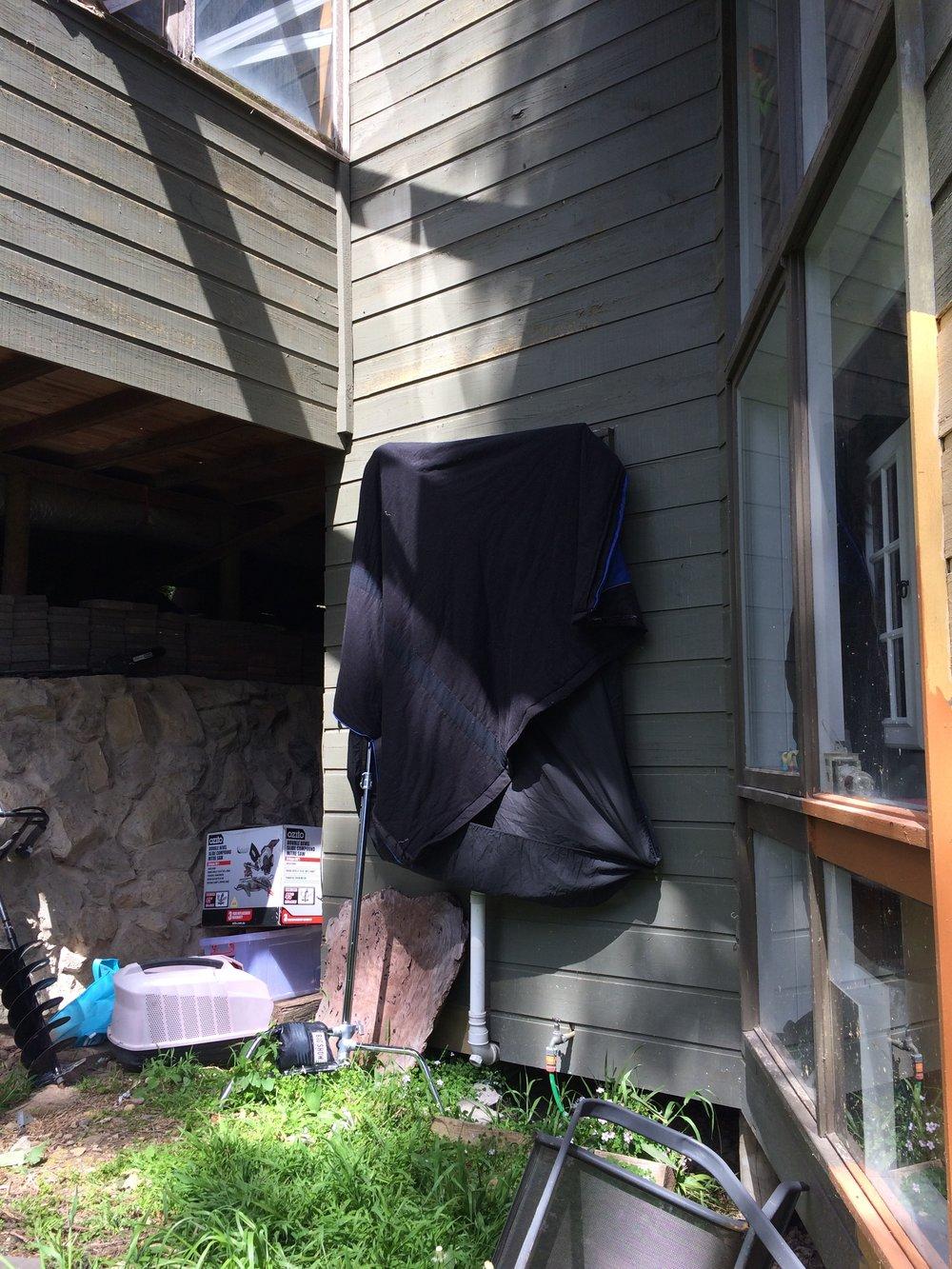 Exterior of cutter set up.