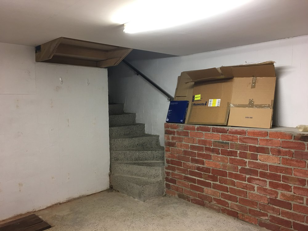 Stairway to bunker entrance