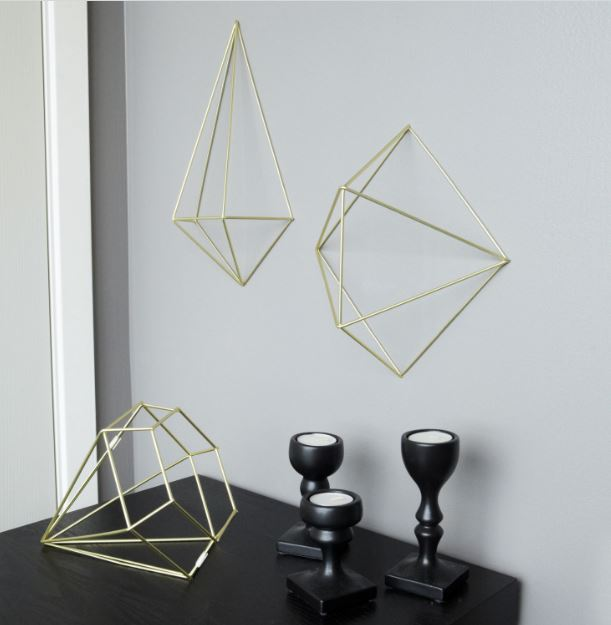 Umbra - Prisma Wall Decor in Brass