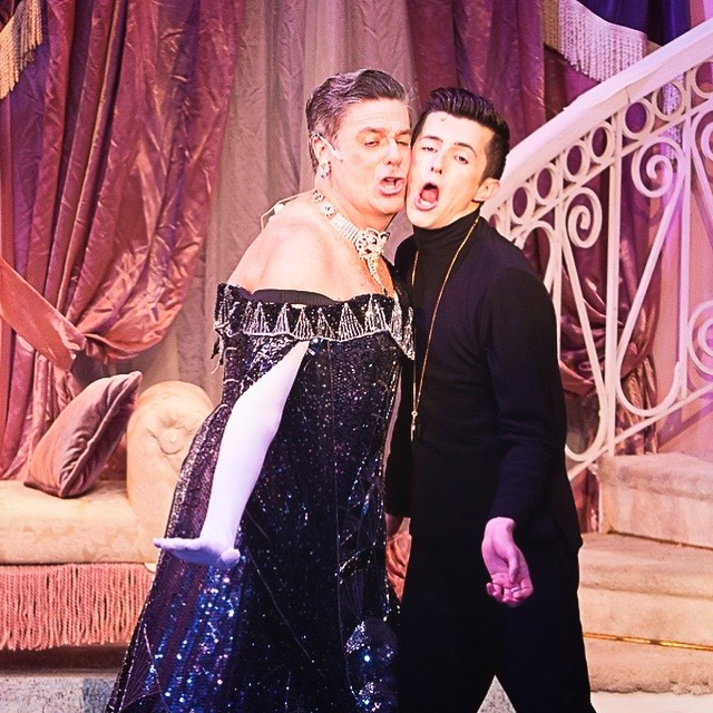Liam as Carmen Ghia (right) with Stuart Marland as Rodger (left).