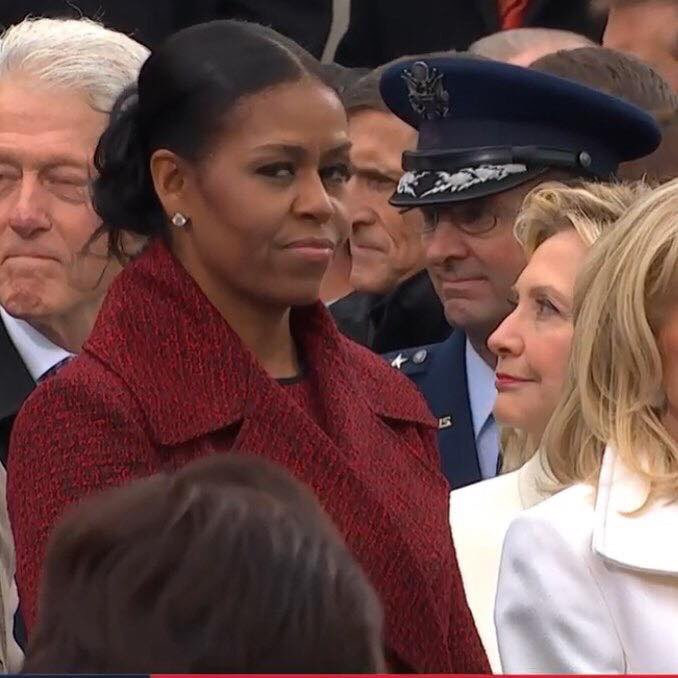 Michelle Obama notices and reacts to Trump taking the big banana spot in the Republic, a position that was previously used by her man to fund climate change science.
