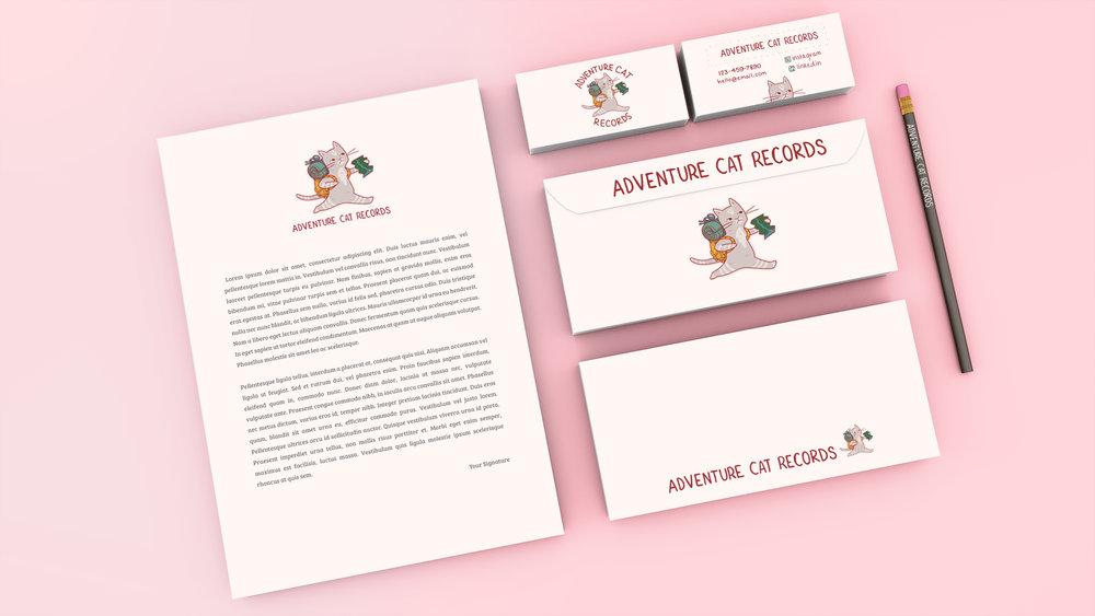 branding concept for Adventure Cat Records.