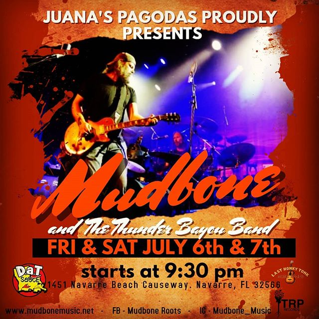 Breakin the band back out Friday & Saturday @ Juana's Pagodas in Navarre Beach!