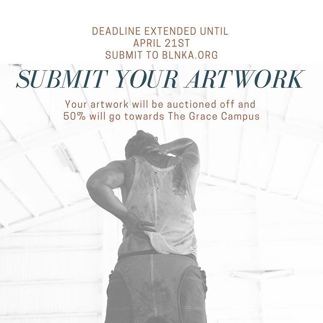 "There's a new deadline for the play ""The Hairy Ape"" at Grace Campus. Your beautiful artworks are needed!  They will go to a good home + a percentage will benefit The Grace Campus in Lubbock!  Submit on our website!#blnka #lbk #art #community #texas #love"