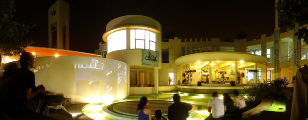 NID_Bangalore_amphitheater_night_panorama