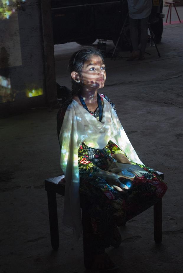 Girl in Installation.Photograph by Gaurav Chaturvedi.
