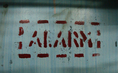 Alarm Signage Local Train