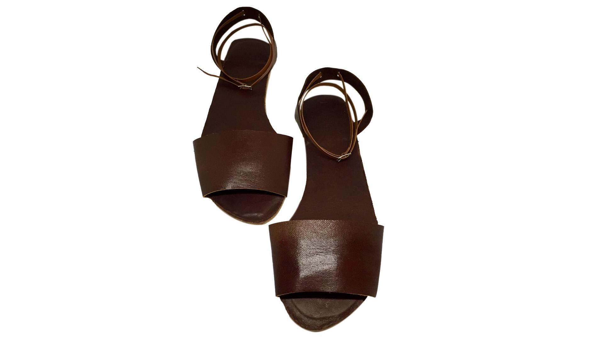 1d39f288e44 Menorquina slingback ankle wrap sandals. Women s Slingback Leather Sandal