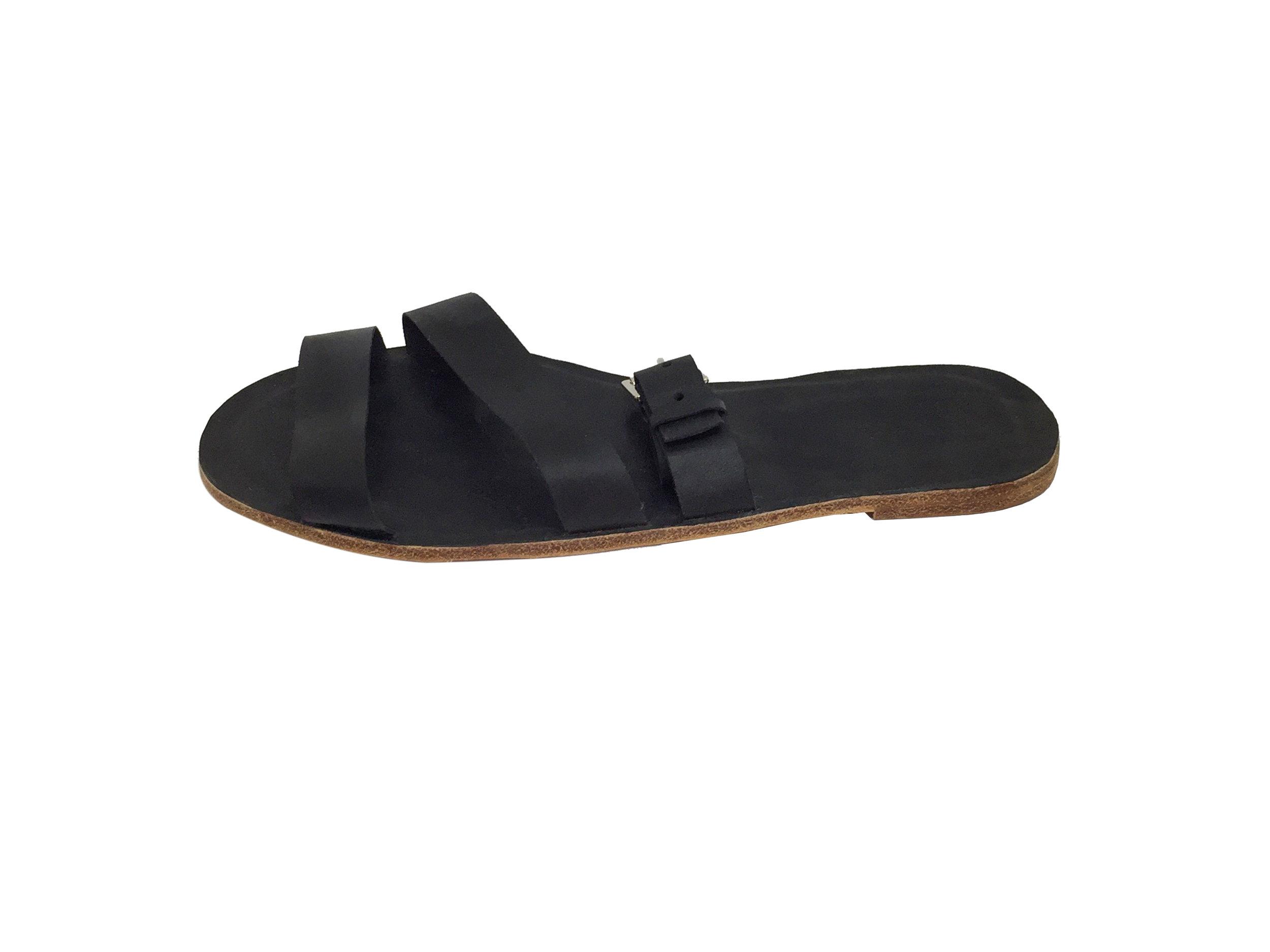 47134e35117 Men s McGill Buckled Leather Slides — D Arçé Sandals