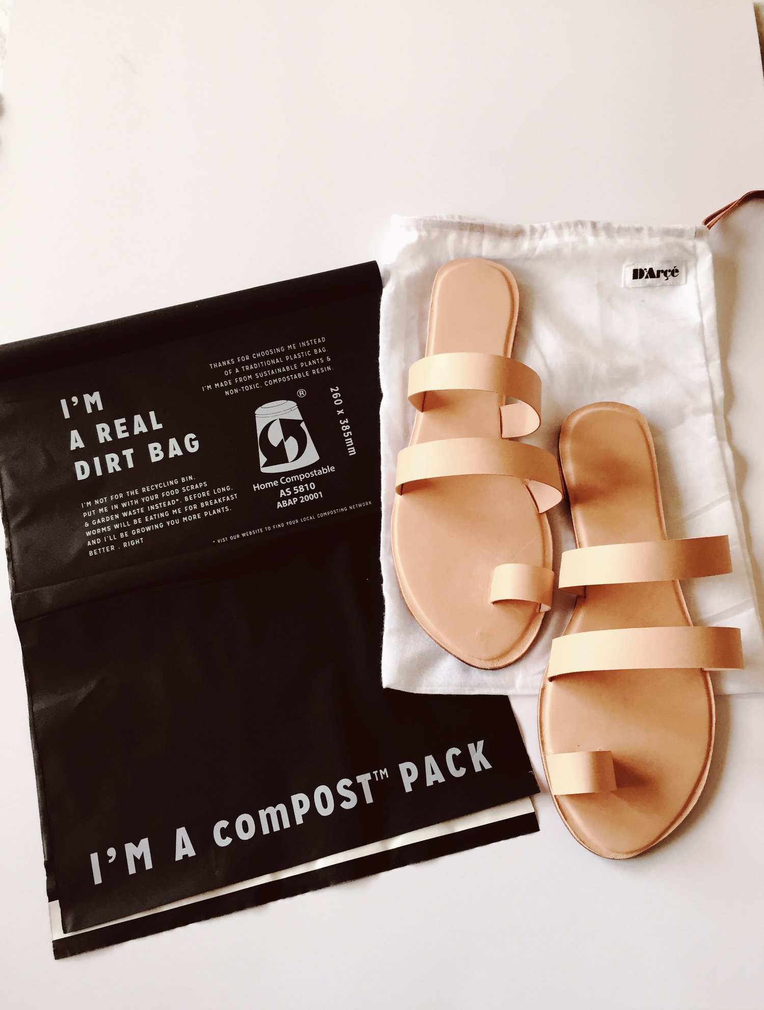 69c4be66fa4 Our Leather sandals now come to you in plastic free packaging — D Arçé  Sandals