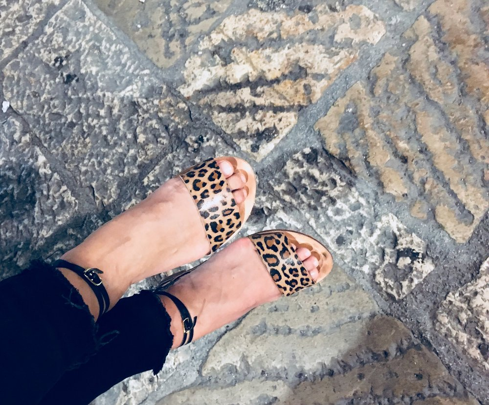 Leopard print sandals just in time for summer! - We have received a very small batch of leopard print kidskin from our tannery. The print of 2018 they lift every outfit from casual to cool.We can make a maximum of 50 pairs so buy yours now to secure a pair for that perfect Christmas outfit or gift!They are available in two styles. The Vaucluse which is a multi tonal slingback and the Mossman, a three strap slide. Both up in the e shop now!Email us for information at hello@darcesandals.com