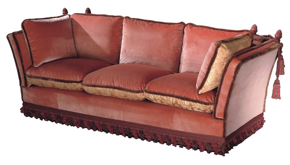 ... Design A Sofa Based On The Knole, And Named It The Rosebery Knole,  Which Has Lower Back And Sides That The Original, And Is Still Popular To  This Day.