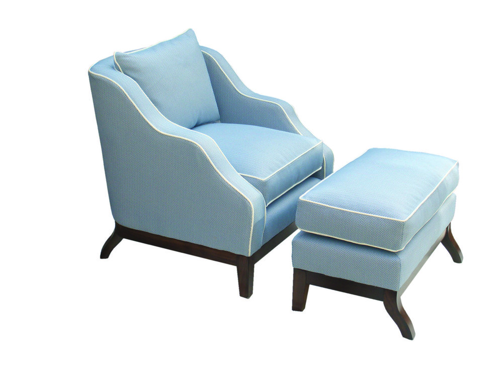 Hoxton small chair & run-up