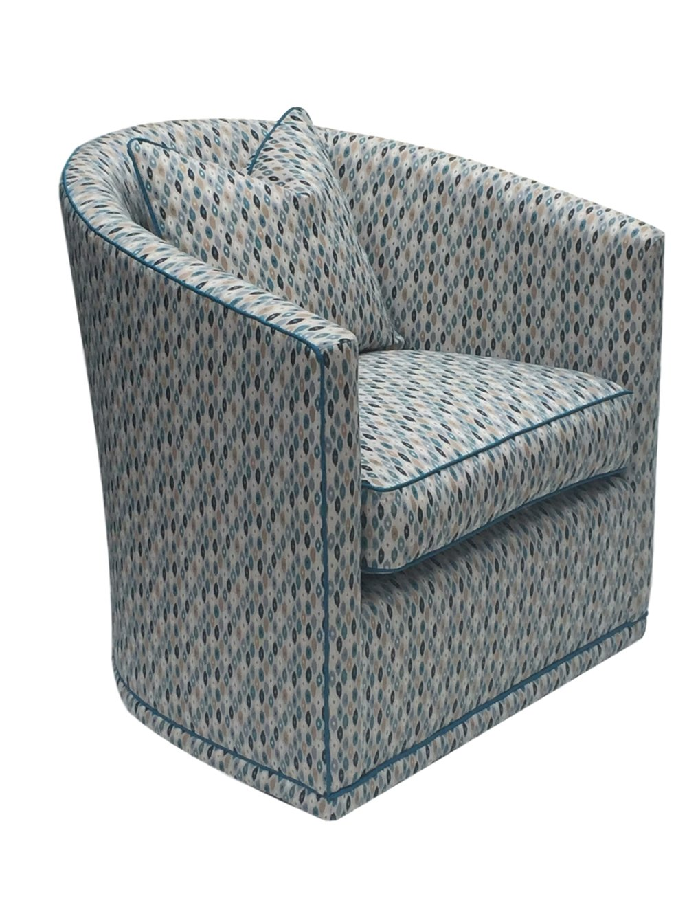 Savoy chair with no showwood and banded base