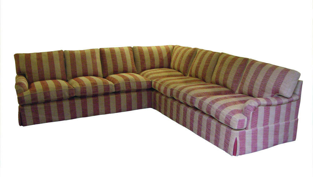 Connaught 7 seater with high pelmet and sumptuous cushioning