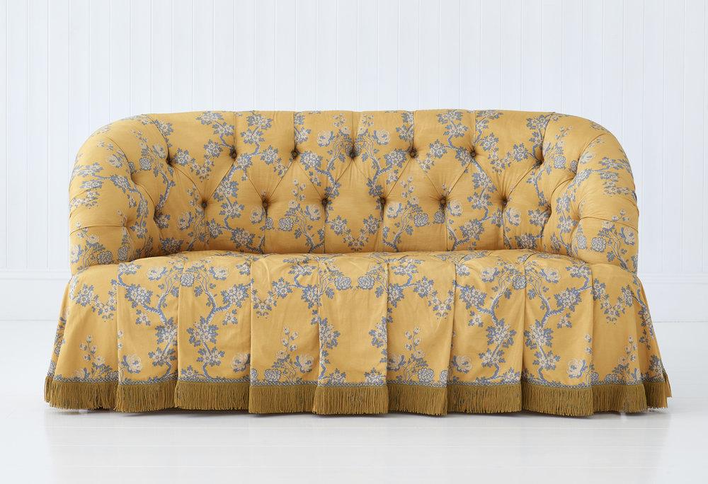 Waterfall sofa - stunningly elegant sofa in beautiful fabric and trim - perfection...