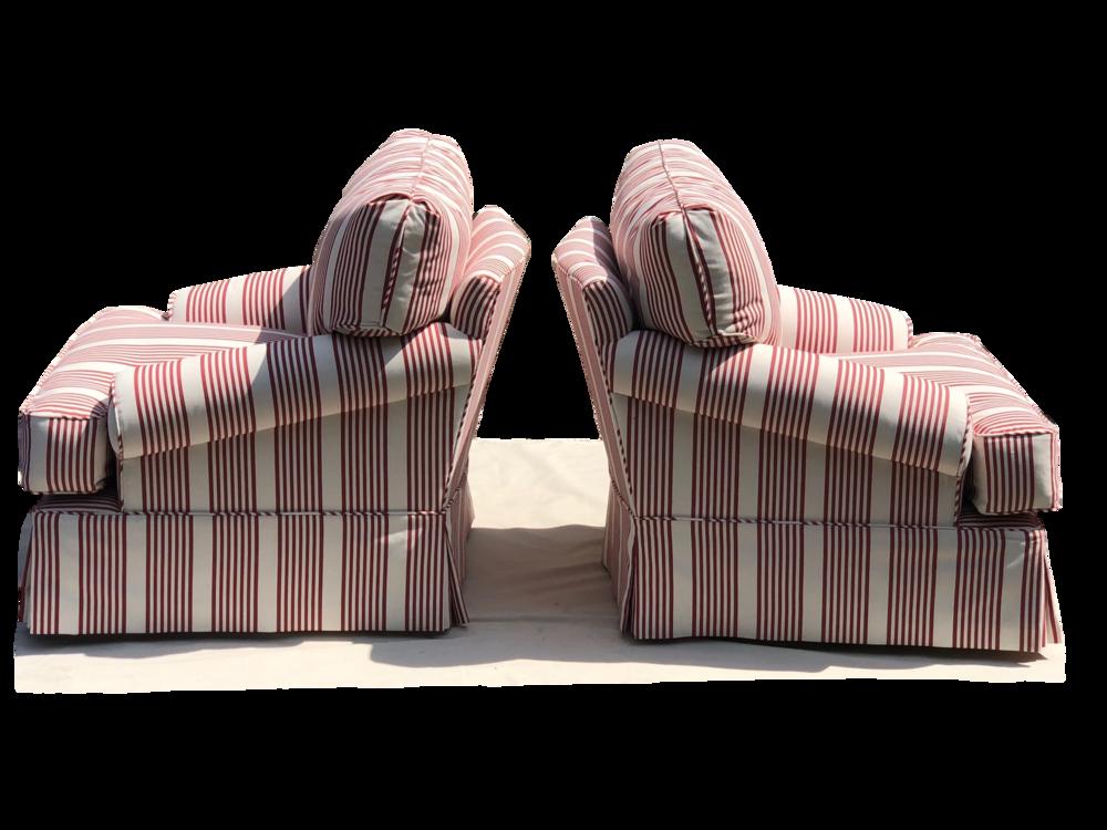 Bespoke scroll armchairs with swivel mechanism