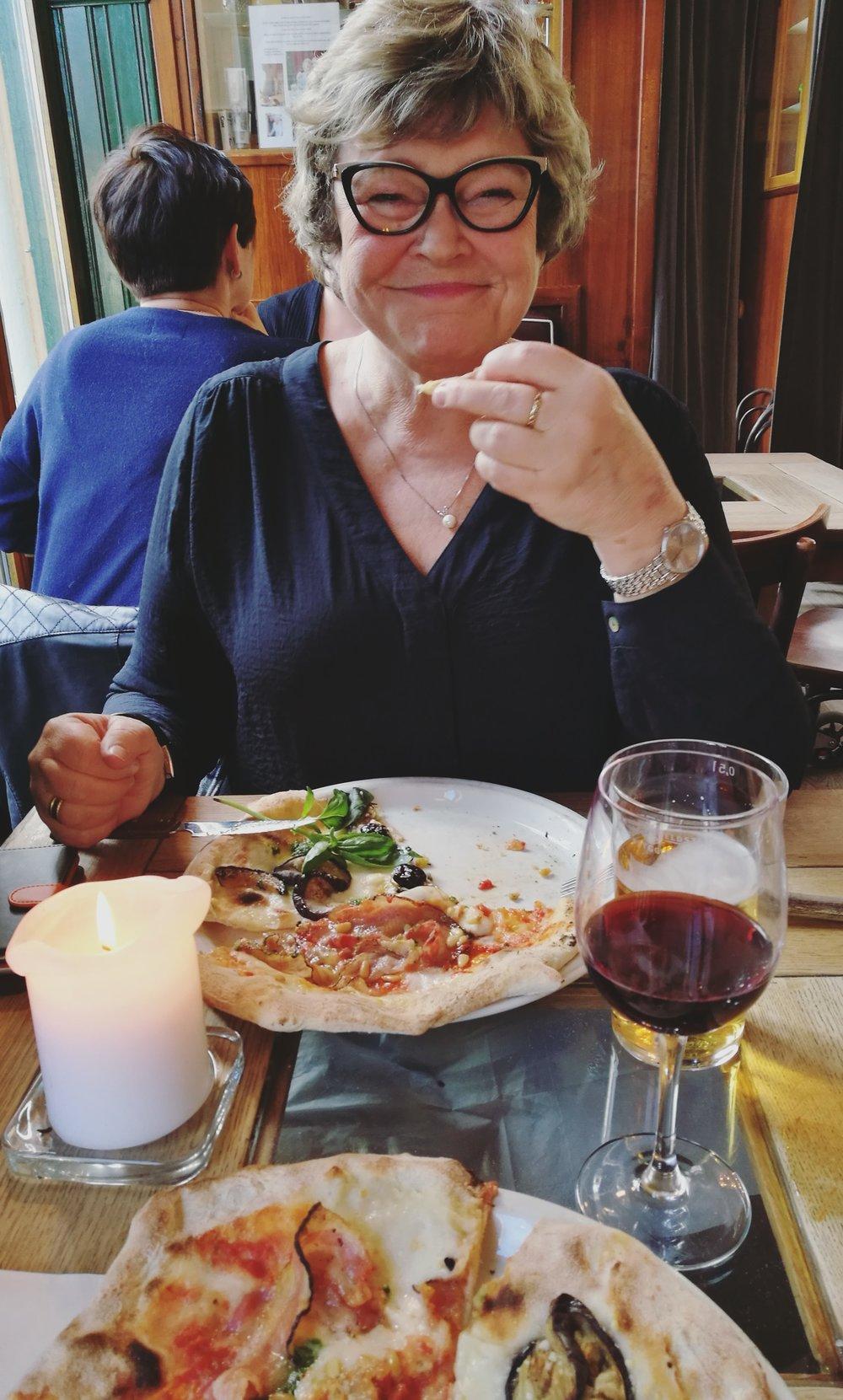 Pizza på Grünerløkka med mamma, perfekt!