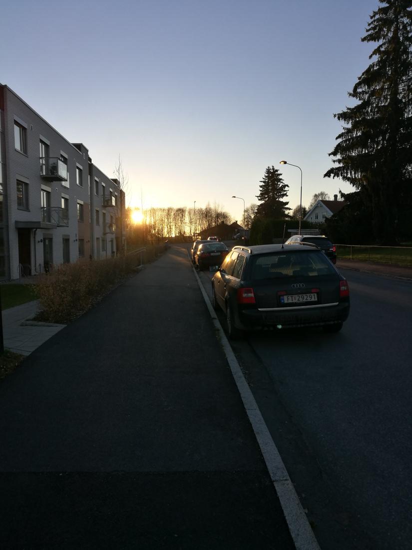 Og solnedganger på vei hjem fra jobb.
