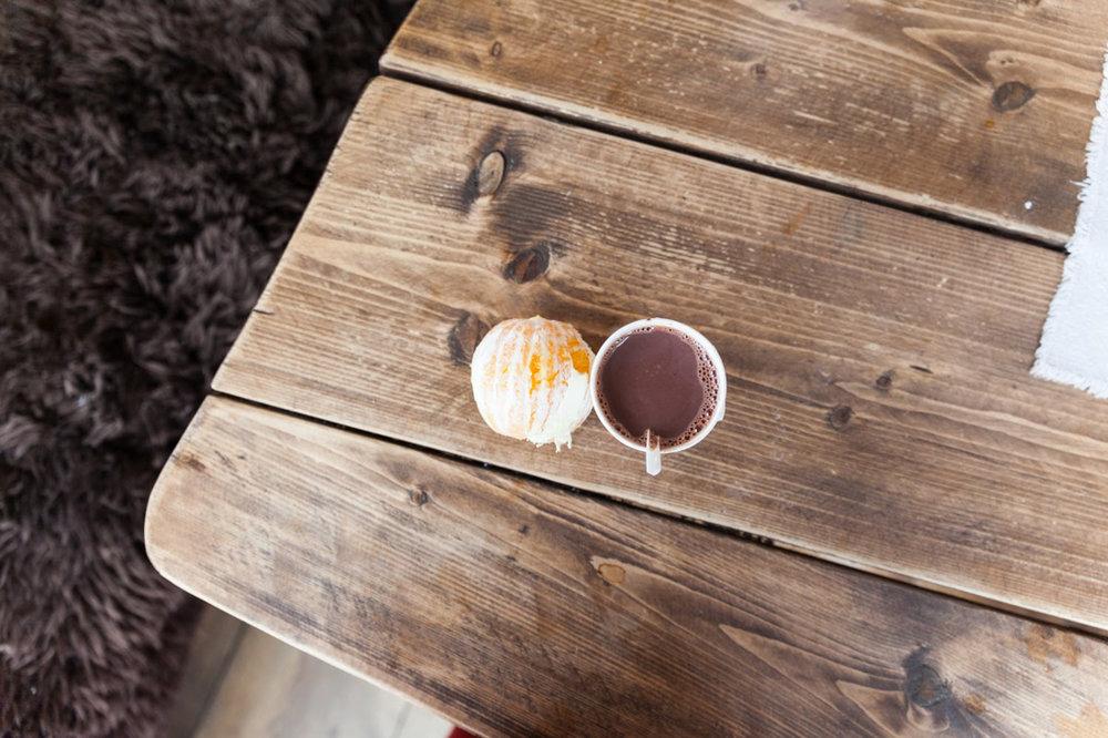 Kakao og massemasse klementin.