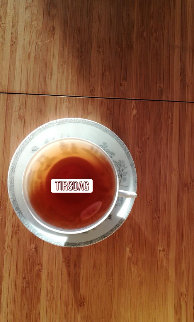 En kanne te hver dag! Jeg hadde nemlig te-adventskalender, og elsket den!