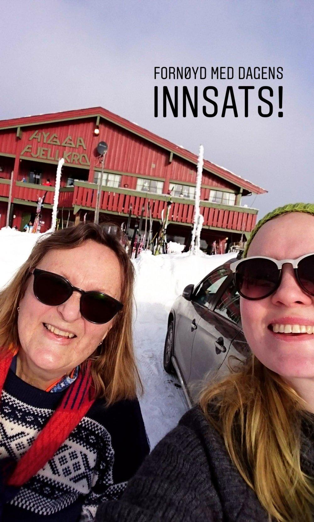 1,5 mil på ski med svigermor!