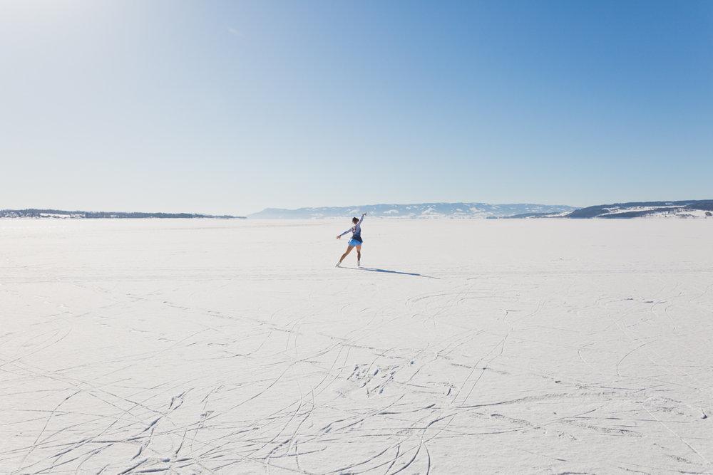 Kunstløp på Mjøsisen