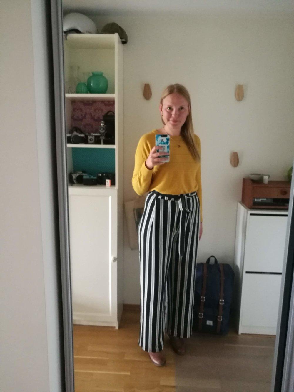 Her var jeg så fornøyd med outfitet at jeg måtte ta et bilde!