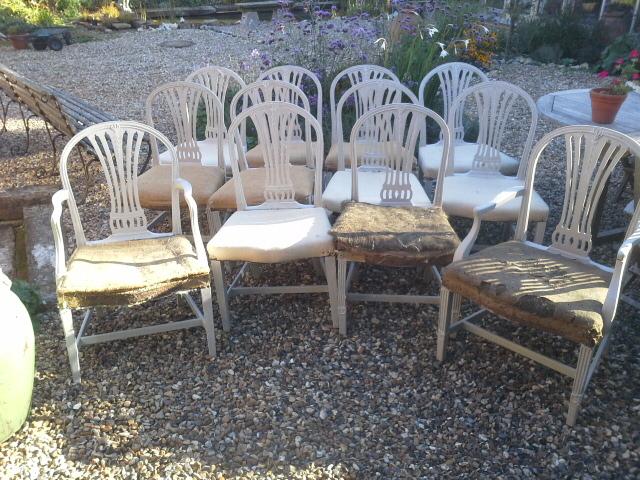 A dozen Georgian chairs. £1500
