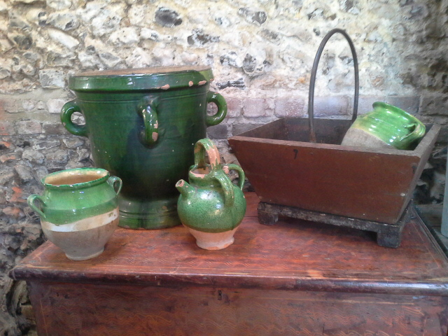 Always a selection of country pieces, perfect for flowers and plants!