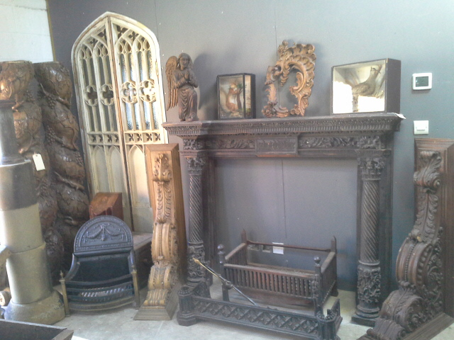French 19th C. carved fire surround £895