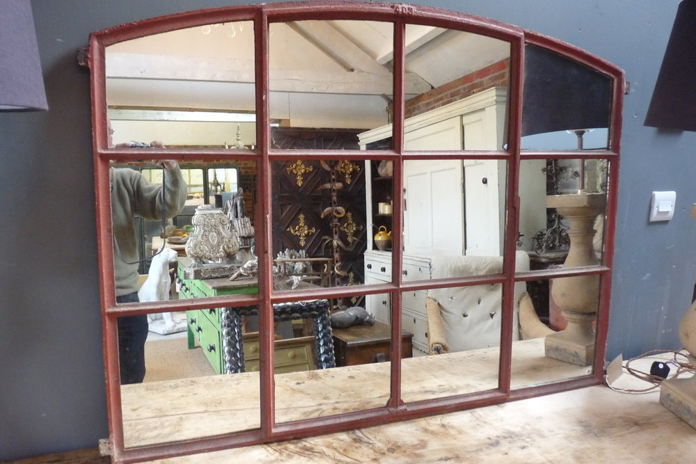 19th Century industrial window converted to mirror. £495.