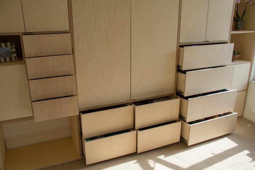 Soft close drawers