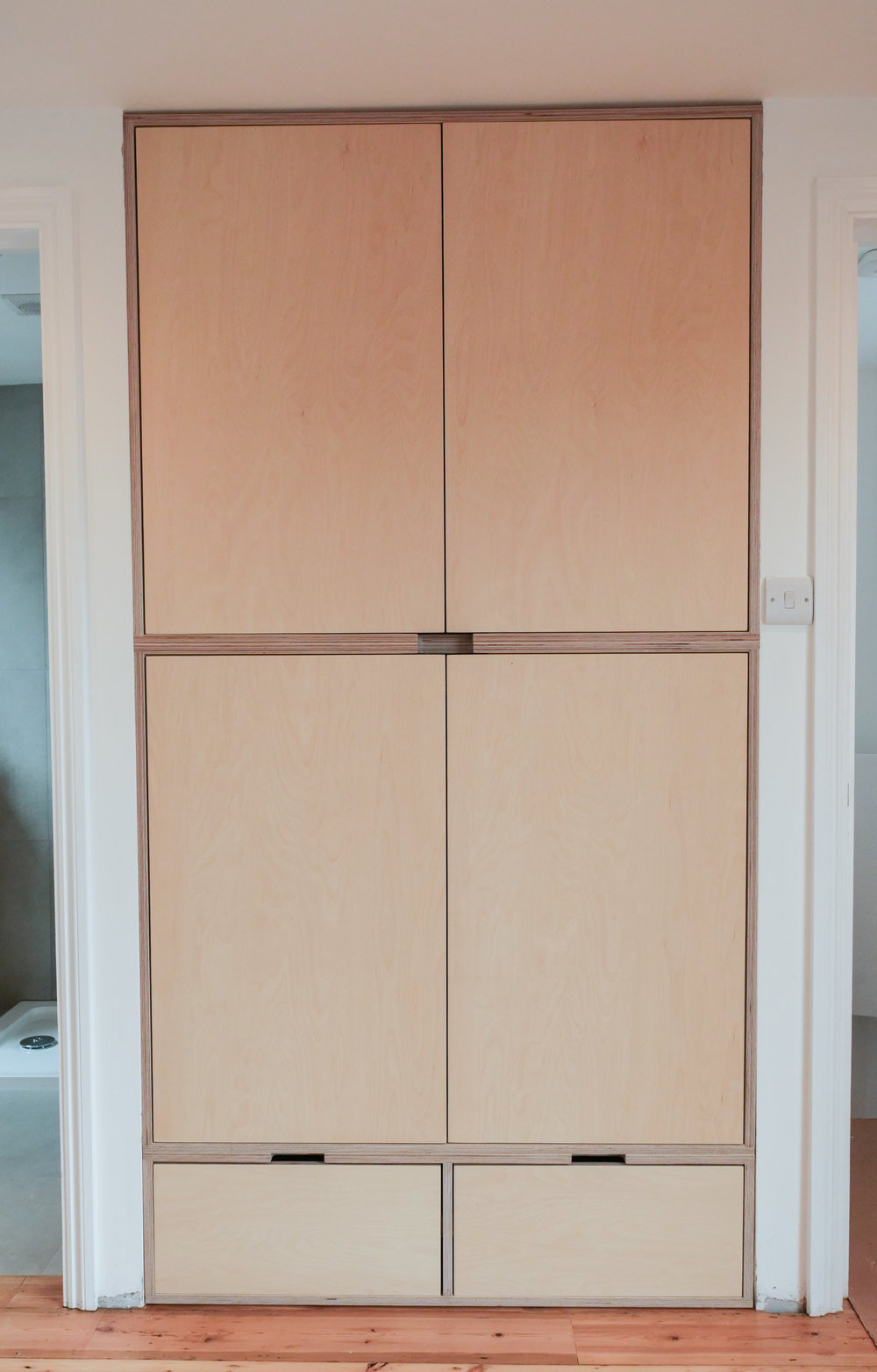 Birch ply bespoke wardrobe
