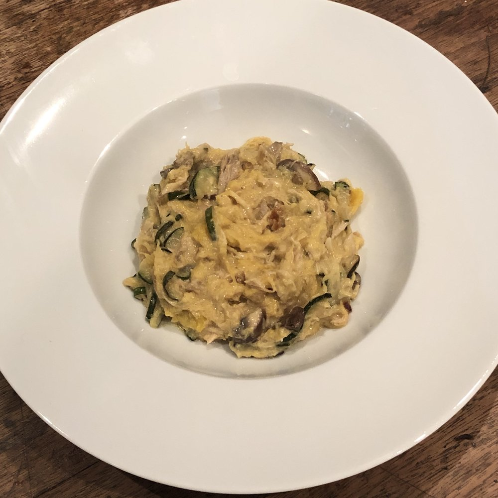 Served with Spaghetti Squash