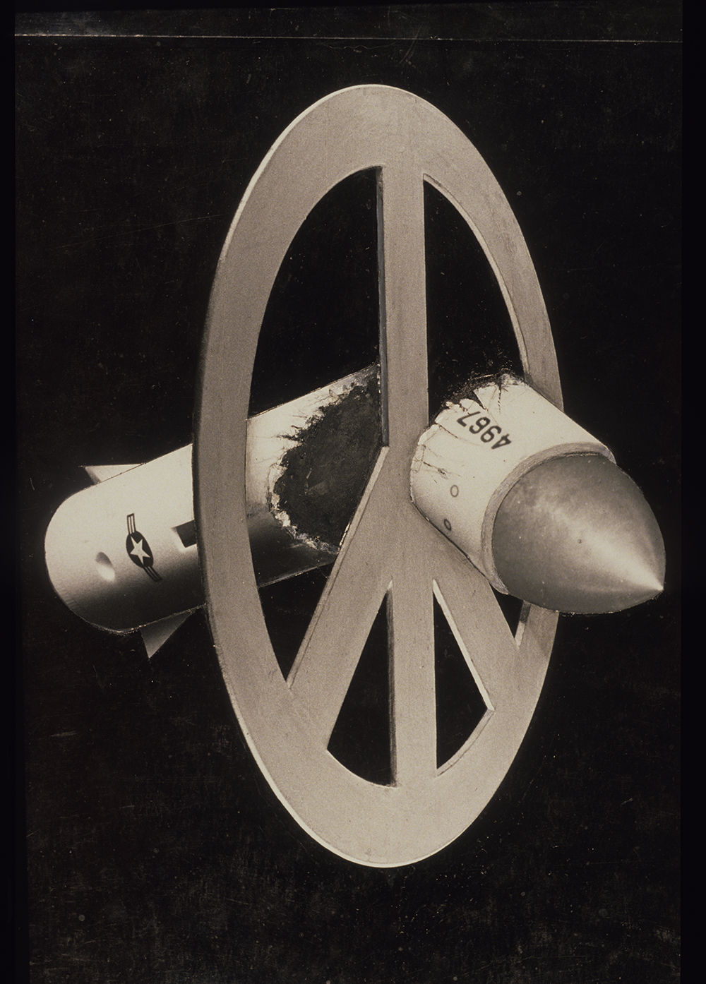 Broken Missile - PhotomontageGelatin silver prints,gouache and ink on card1980First published:Poster for Campaign for NuclearDisarmament, 1980Collection: TateCatalogue: PK/180