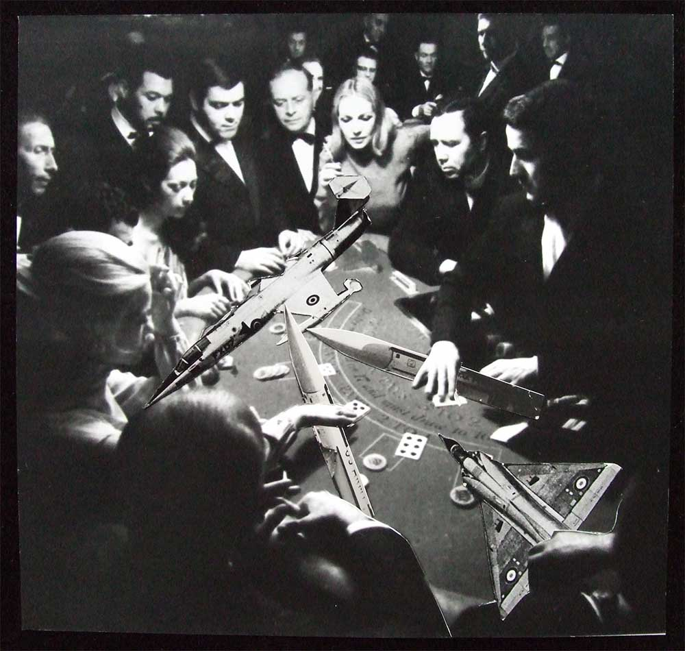 The Gamble (rough) - PhotomontageGelatin silver prints andink on card1986