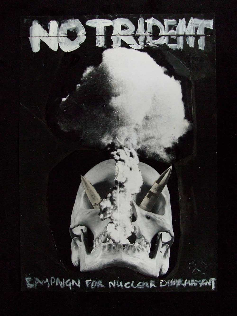 No Trident (rough) - PhotomontageGelatin silver prints, inkand gouache on cardCirca 1986