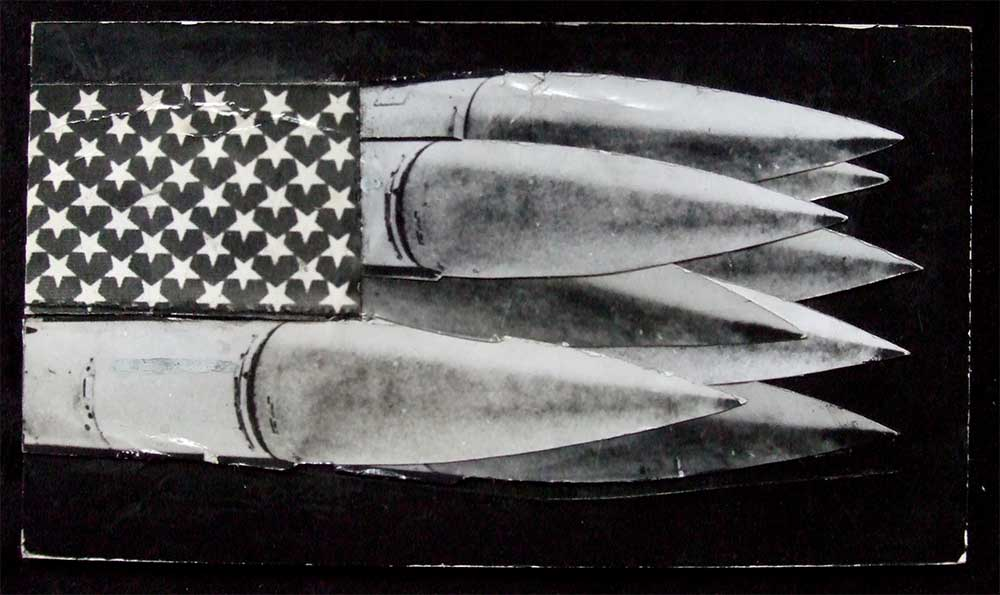 Stars and Missiles - PhotomontageGelatin silver prints andink on card1983First published:New Statesman, 2nd Sept 1983