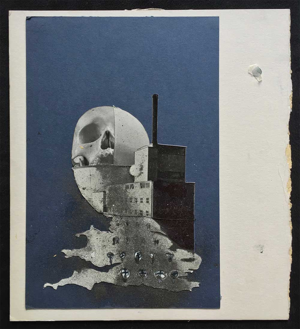 Nuclear Britain (rough) - PhotomontageGelatin silver prints, inkand graphite on cardCirca 1986Catalogue: PK/413