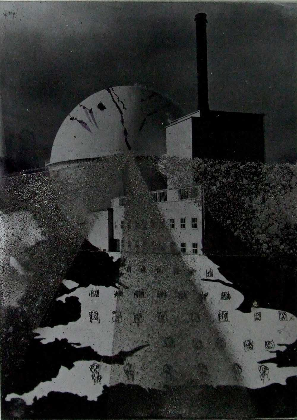 Nuclear Britain (rough) - PhotomontageGelatin silver prints, inkand graphite on cardCirca 1986Catalogue: PK/297