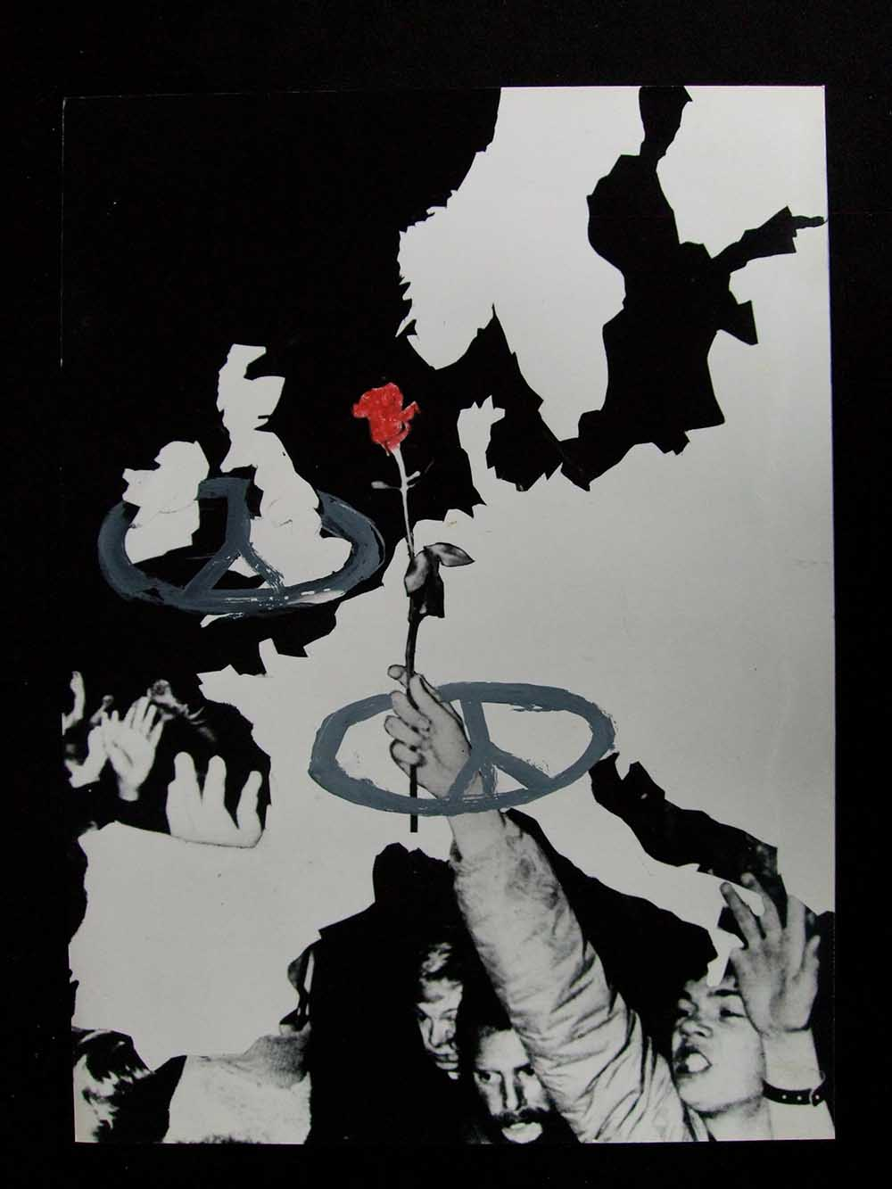 European Nuclear Disarmament(END) (rough) - PhotomontageGelatin silver prints, inkand gouache on card1983First published: Poster forEuropean NuclearDisarmament (END) (rough)